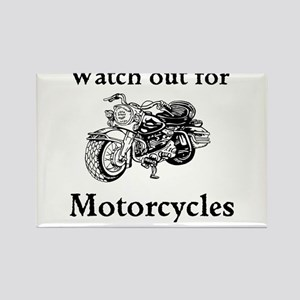 Watch out for motorcycles Rectangle Magnet
