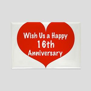 16th Wedding Anniversary.16th Wedding Anniversary Magnets Cafepress