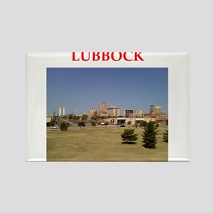 lubbock Rectangle Magnet