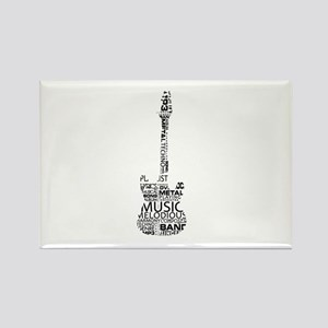 guitar word fill black music image Magnets