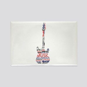 guitar word fill red blue black Magnets