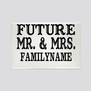 Future Mr. and Mrs. Personalized Rectangle Magnet