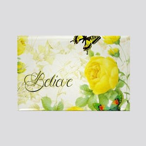 Believe - yellow roses Magnets