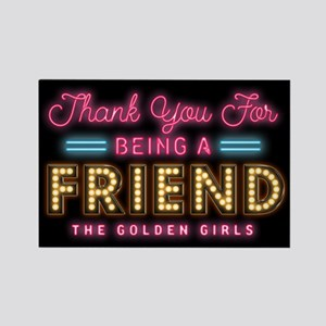 Neon Thank You For Being A Friend Magnets