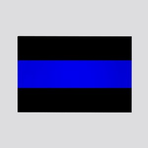 Police: The Thin Blue Line Rectangle Magnet