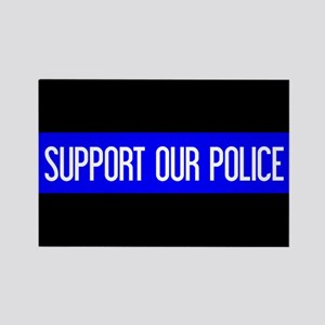 Police: Support Our Police & The Rectangle Magnet