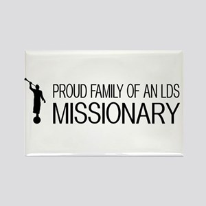 LDS: Proud Missionary Family (Whi Rectangle Magnet