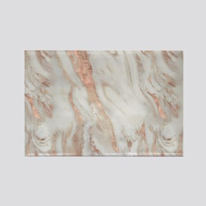 Rose Gold Marble Magnets