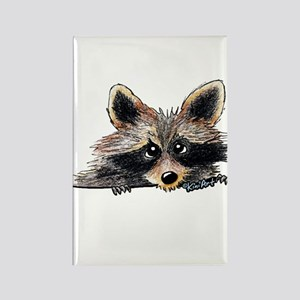 Pocket Raccoon Rectangle Magnet