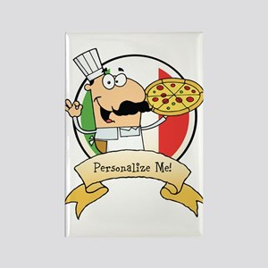 Italian Pizza Chef Rectangle Magnet