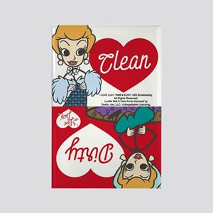 Dirty Clean Lucy Rectangle Magnet