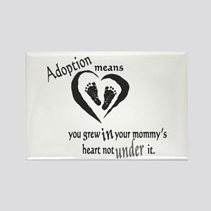 Born in mommy's heart Rectangle Magnet