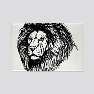 lion - king of the jungle Rectangle Magnet