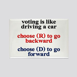 Democrat Voting/Driving Rectangle Magnet