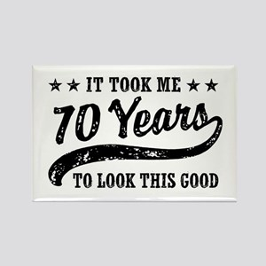 150a5892d Funny 70th Birthday Rectangle Magnet