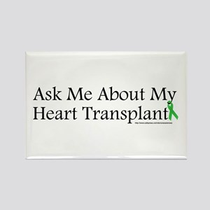 Ask Me Heart Rectangle Magnet