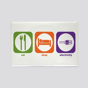 Eat Sleep Electricity Rectangle Magnet