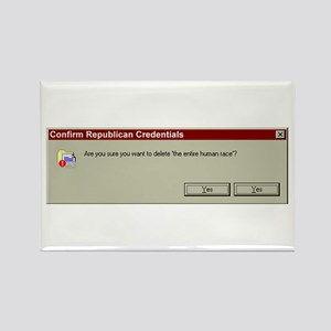 Confirm Republican Credential Rectangle Magnet