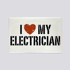 I Love My Electrician Rectangle Magnet
