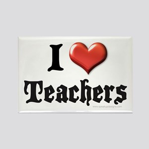 I Heart (Love) Teachers Rectangle Magnet