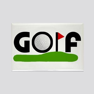 'Golf' Rectangle Magnet