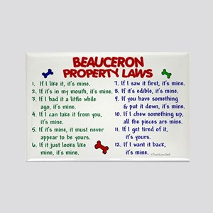 Beauceron Property Laws 2 Rectangle Magnet