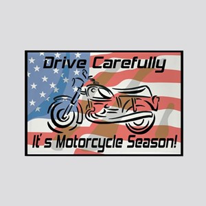 Motorcycle Season Rectangle Magnet