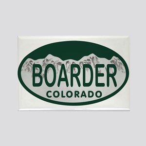 Boarder Colo License Plate Rectangle Magnet