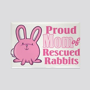 Rescued Rabbits Mom Rectangle Magnet