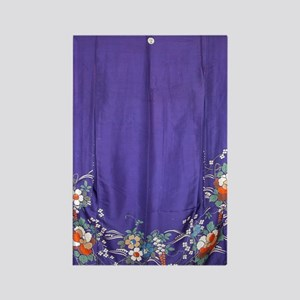 Regal Purple Antique Kimono Showe Rectangle Magnet
