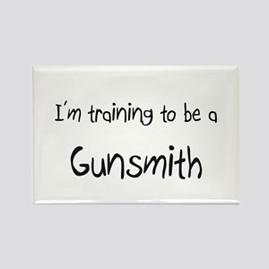 I'm training to be a Gunsmith Rectangle Magnet