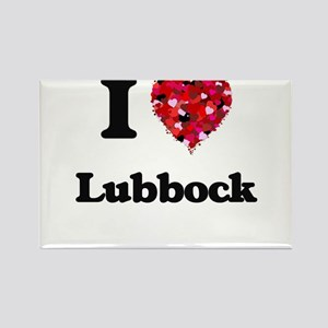 I love Lubbock Texas Magnets