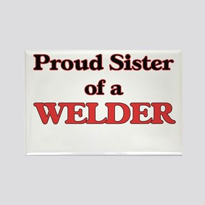 Proud Sister of a Welder Magnets