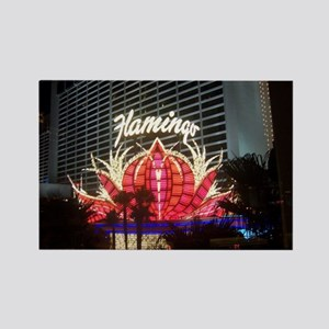 The Flamingo Hotel and Casino Rectangle Magnet