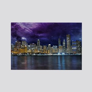 Spacey Chicago Skyline Magnets