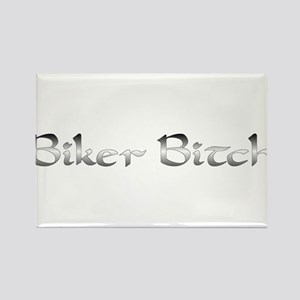 Biker Bitch Rectangle Magnet