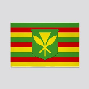 Kanaka Maoli Flag - Hawaiian Independence Magnets