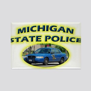 Michigan State Police Rectangle Magnet