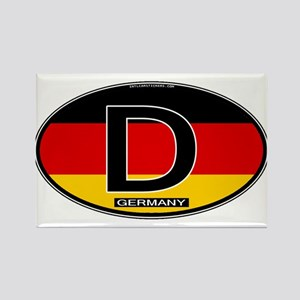 Germany Colors Oval Rectangle Magnet
