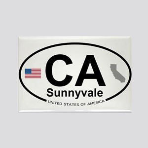 Sunnyvale Rectangle Magnet
