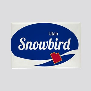 Snowbird Ski Resort Utah oval Magnets