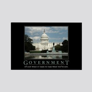 Government Rectangle Magnet