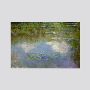 Water Lillies (The Clouds) Rectangle Magnet