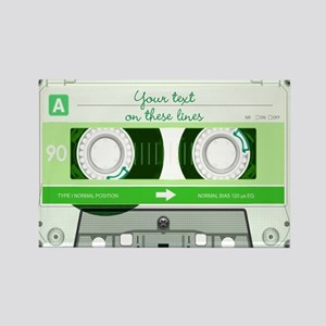 Cassette Tape - Green Rectangle Magnet