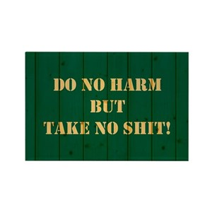 DO NO HARM    Rectangle Magnet