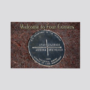 Welcome to Four Corners Monument  Rectangle Magnet