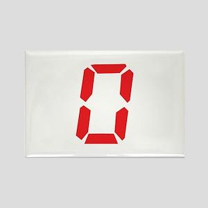 0 Zero alarm clock number Rectangle Magnet