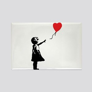 Banksy - Little Girl with Ballon Rectangle Magnet