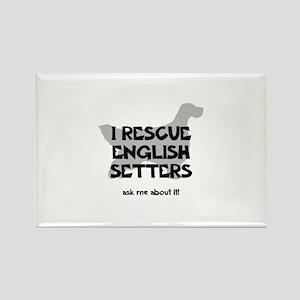 I RESCUE English Setters Rectangle Magnet