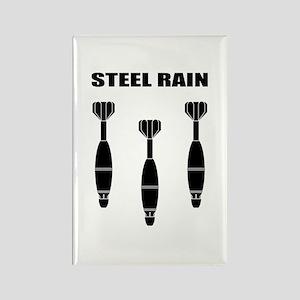Steel Rain Rectangle Magnet